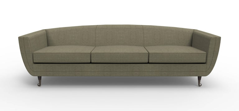 American Custom Upholstered Carlo Velvet Sofa from William Collins Collection For Sale