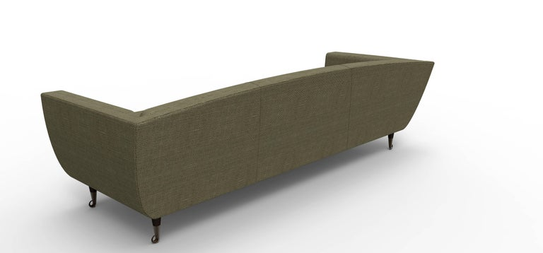 Woodwork Custom Upholstered Carlo Velvet Sofa from William Collins Collection For Sale