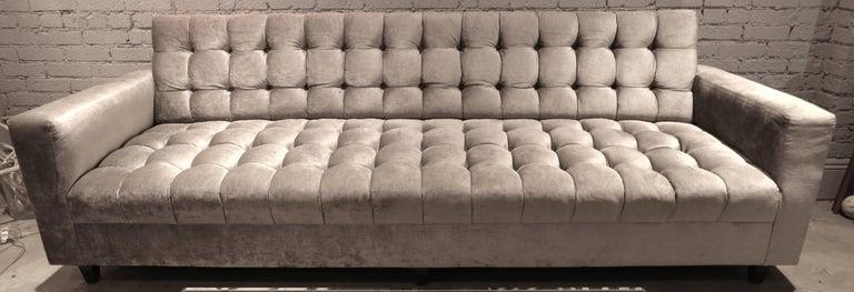 Contemporary Custom Velvet Tufted Sofa For Sale