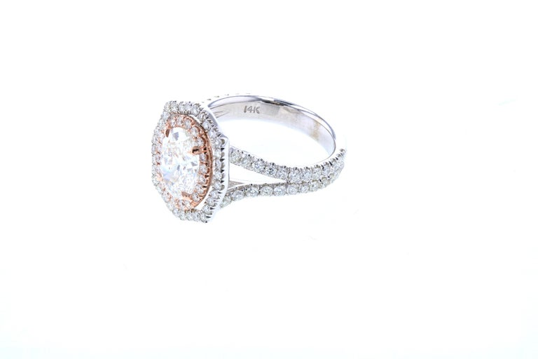 Belle Époque Custom Vintage Inspired Oval Diamond Engagement Ring 'GIA Certified' For Sale