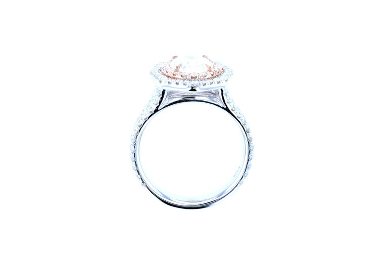 Oval Cut Custom Vintage Inspired Oval Diamond Engagement Ring 'GIA Certified' For Sale