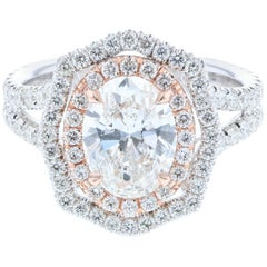 Custom Vintage Inspired Oval Diamond Engagement Ring 'GIA Certified'