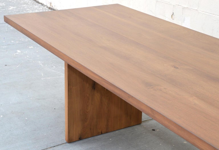American Custom Walnut Dining Table For Sale