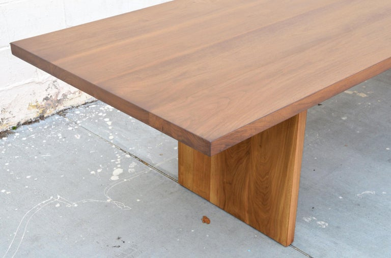 Hand-Crafted Custom Walnut Dining Table For Sale