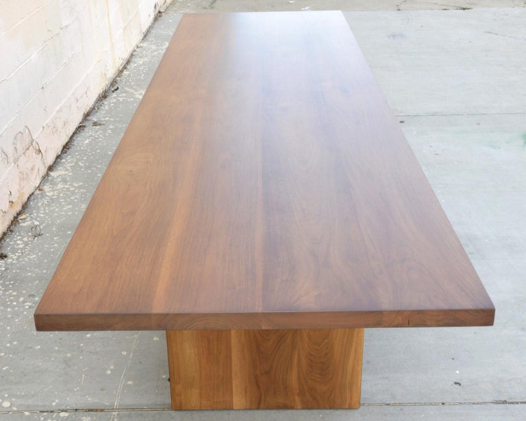 Custom Walnut Dining Table In Excellent Condition For Sale In Los Angeles, CA