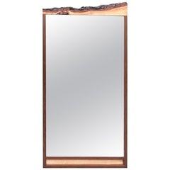 Custom Walnut Organic Mirror by Custom Design