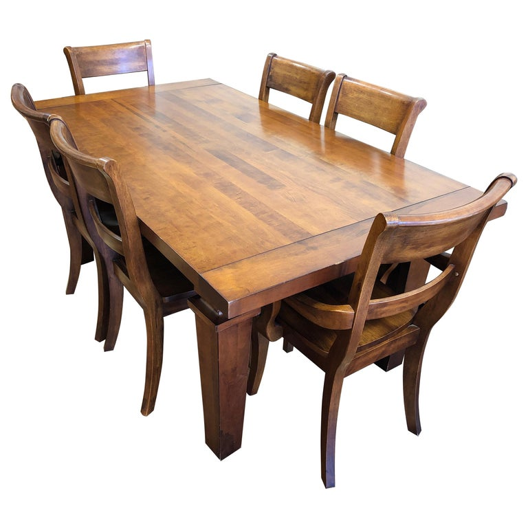 Wood Dining Table For Sale: Custom Wood Dining Table And Six Chairs From Chile For