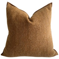 Custom Wool Accent Pillow with Down Insert