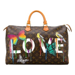 Customised Louis Vuitton Vintage  'Dripping Love' Bag