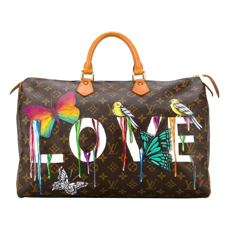 Customised Louis Vuitton Vintage  'Dripping Love' Bag For Sale