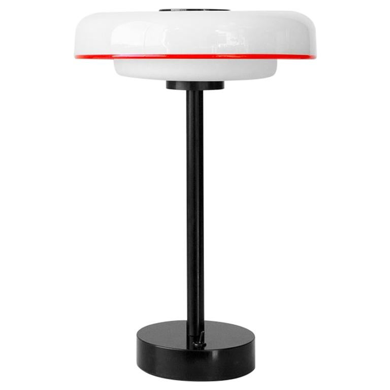Customizable and Dimmable Glass Disc Table Lamp by in Common With For Sale