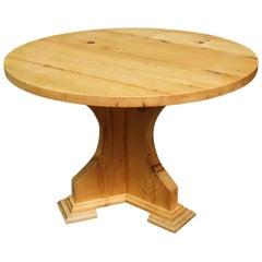 Customizable Antique Pine Farmhouse Style Round Table