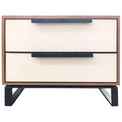 Customizable Chelsea Leather 2-Drawer Nightstand