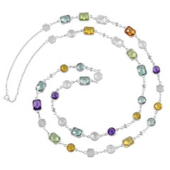 """Customizable Code By Edge Multi-Gem Necklace - """"One In A Million"""" in Morse Code"""