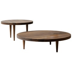Customizable Coffee Table Groove, More Sizes, More Wood Finishes