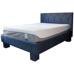 Customizable Contemporary Geometric Upholstered Platform Bed