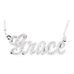 Customizable Diamond Nameplate Necklace