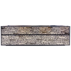Customizable Gray Lacquered Ravenna Glass Mosaic Chest of Drawer by Ercole Home