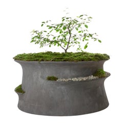 "Concrete Jabbah Planter by OPIARY (D40"", H22"")"
