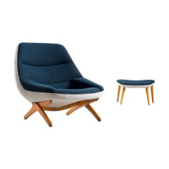 Customizable Illum Wikkelsø Lounge Chair with Ottoman