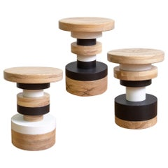 Customizable Low Sass Stool from Souda, Chairs, Seating, Set of 3, Made to Order
