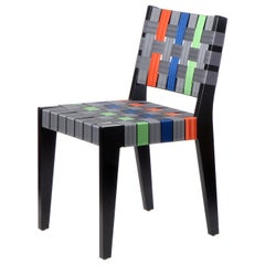 Customizable Maple Side Chair with Woven Seat & Back Made in USA by Peter Danko