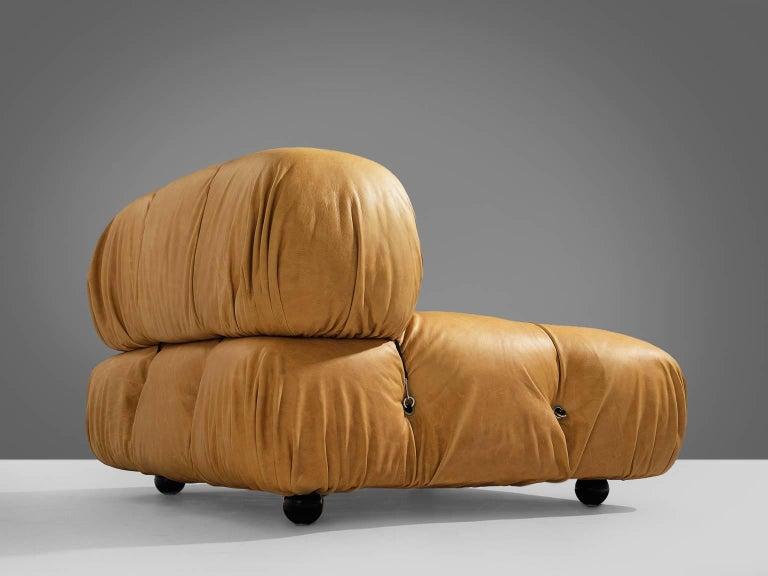Customizable Mario Bellini 'Camaleonda' Modular Sofa in Cognac Leather In Excellent Condition For Sale In Waalwijk, NL