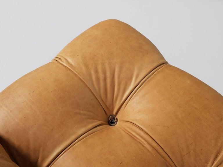 Late 20th Century Customizable Mario Bellini 'Camaleonda' Modular Sofa in Cognac Leather For Sale