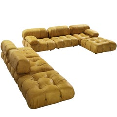 Customizable Mario Bellini 'Camaleonda' Modular Sofa in Cognac Leather