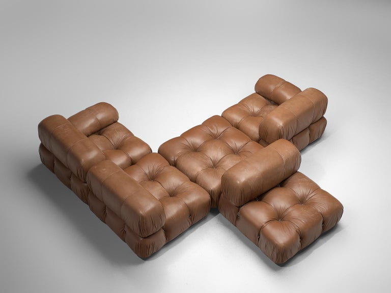Customizable Mario Bellini 'Camaleonda' Modular Sofa in Original Leather For Sale 1