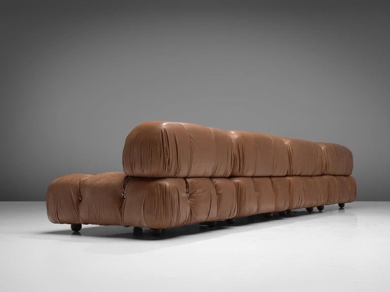 Customizable Mario Bellini 'Camaleonda' Modular Sofa in Original Leather For Sale 2