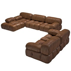 Customizable Mario Bellini 'Camaleonda' Modular Sofa in Original Leather