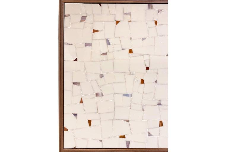 Modern Customizable Milano Brown Walnut Buffet in Terrazzo Glass Mosaic by Ercole Home For Sale