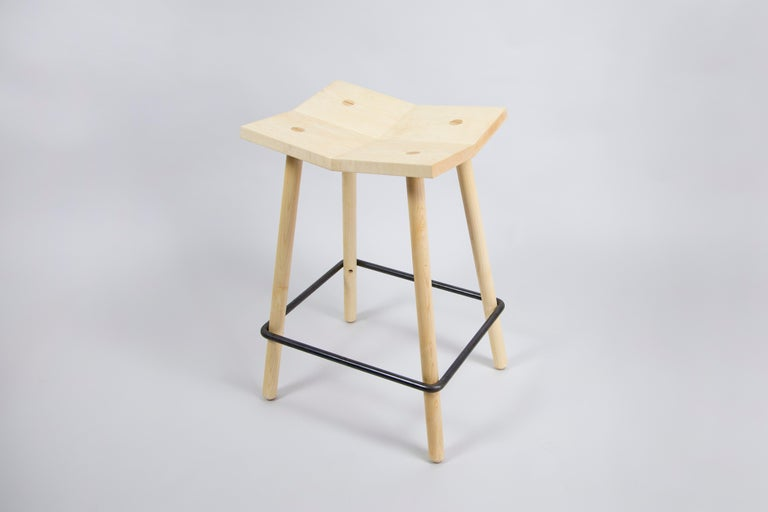 Modern Customizable Mitre Counter Stool from Souda, Made to Order For Sale