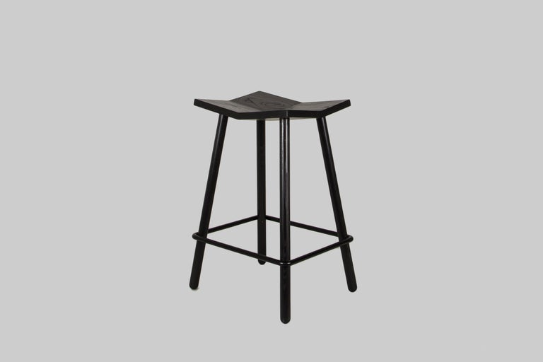 American Customizable Mitre Counter Stool from Souda, Made to Order For Sale