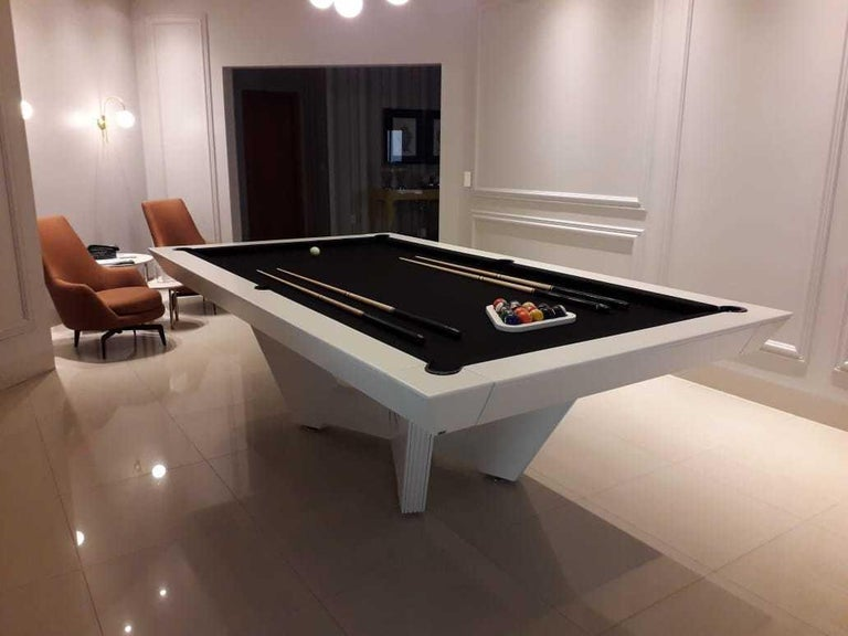 Wood Customizable Modern Pool Table For Sale