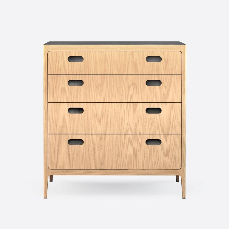 Customizable Oak Dresser from Munson Furniture with Blackened Brass Top In New Condition For Sale In Oakland, CA