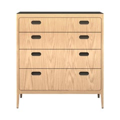 Customizable Oak Dresser from Munson Furniture with Blackened Brass Top