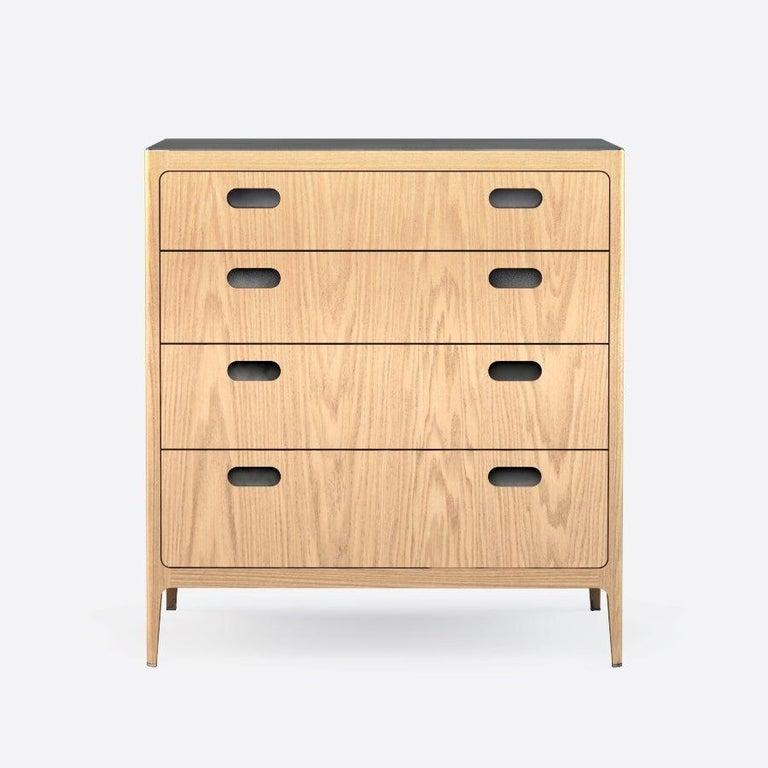 American Customizable Oak Dresser from Munson Furniture with Brass Top