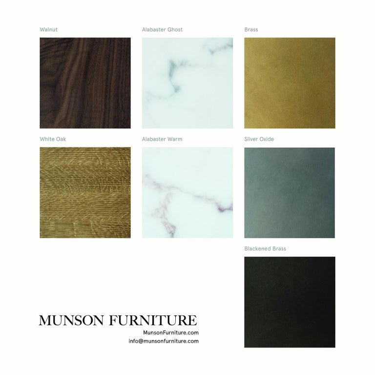 Customizable Oak Dresser from Munson Furniture with Brass Top 1