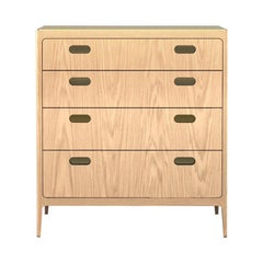 Customizable Oak Dresser from Munson Furniture with Brass Top