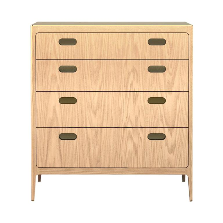 Customizable Oak Dresser from Munson Furniture with Brass Top