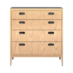 Customizable Oak Dresser from Munson Furniture with Silver Oxide Brass Top