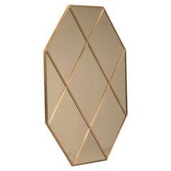 Customizable Octagonal Brass Frame Window Look Bronze Glass