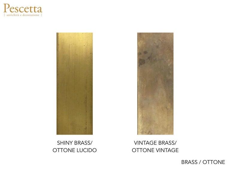 Customizable Octagonal Brass Frame Window Look Bronze Glass Mirror For Sale 7