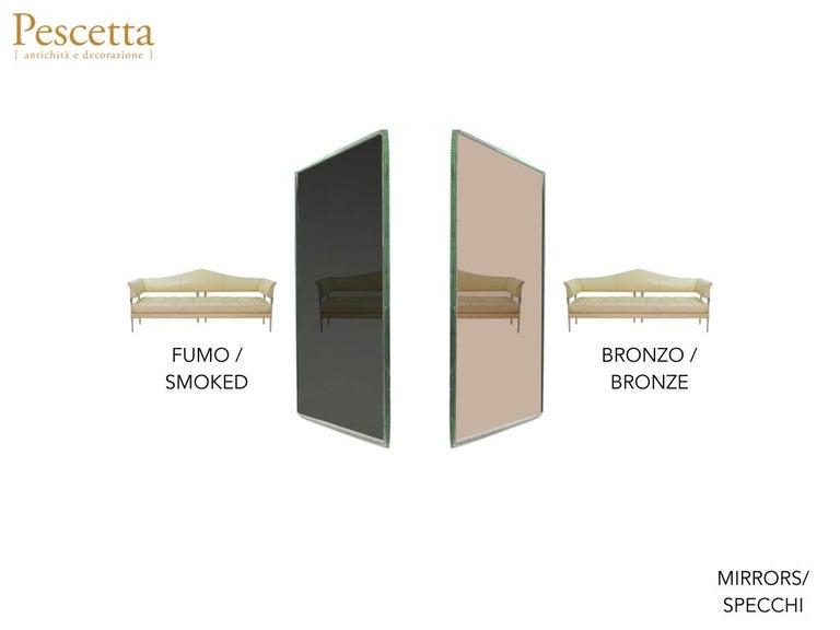 Customizable Octagonal Brass Frame Window Look Bronze Glass Mirror For Sale 9