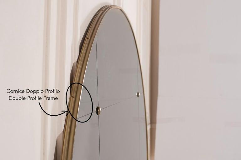 Customizable Octagonal Brass Frame Window Look Bronze Glass Mirror For Sale 12