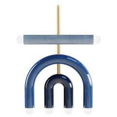 Customizable Pendant Lamp TRN D1, Ceramic and Brass '+ Colors, + Shapes'