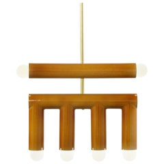 Customizable Pendant Lamp TRN D2, Ceramic and Brass '+ Colors, + Shapes'