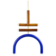 Customizable Pendant Lamp TRN F2, Ceramic and Brass '+ colors, + shapes'